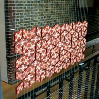 Tile Screen. Slip print on Terracotta Tiles, 2010.
