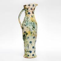 Tall Pitcher with Blue Floral Motif, height 44cm. 2013.